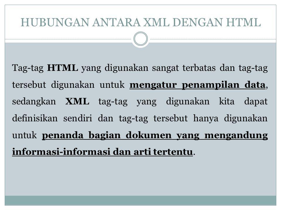 HUBUNGAN ANTARA XML DENGAN HTML
