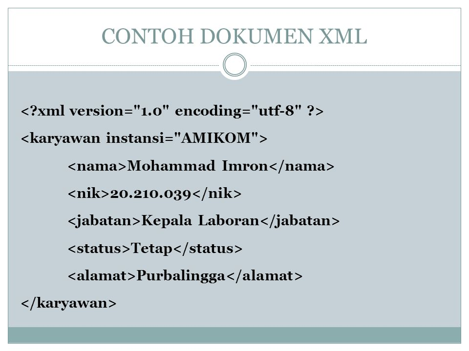 CONTOH DOKUMEN XML