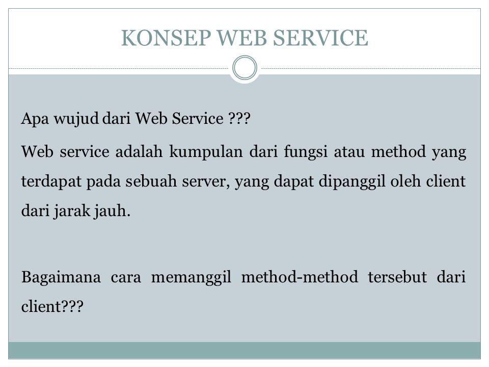 KONSEP WEB SERVICE