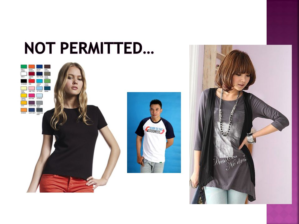 Not permitted…