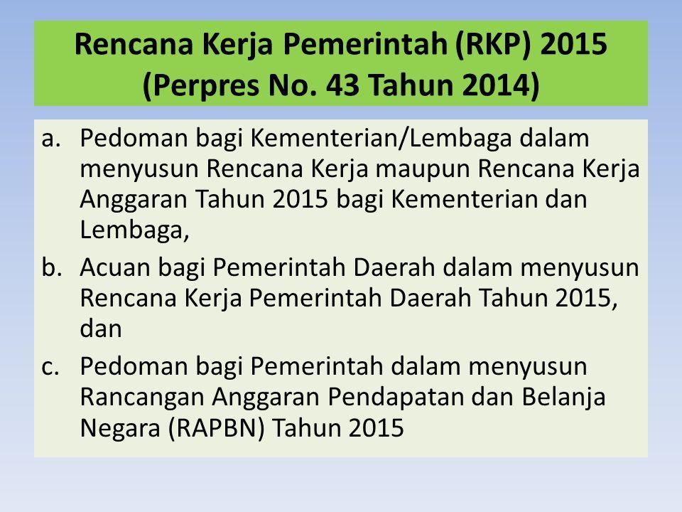 Rencana Kerja Pemerintah (RKP) 2015 (Perpres No. 43 Tahun 2014)