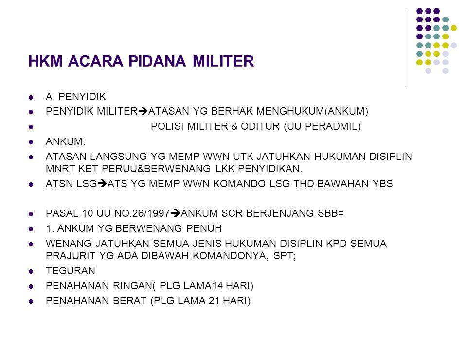HKM ACARA PIDANA MILITER