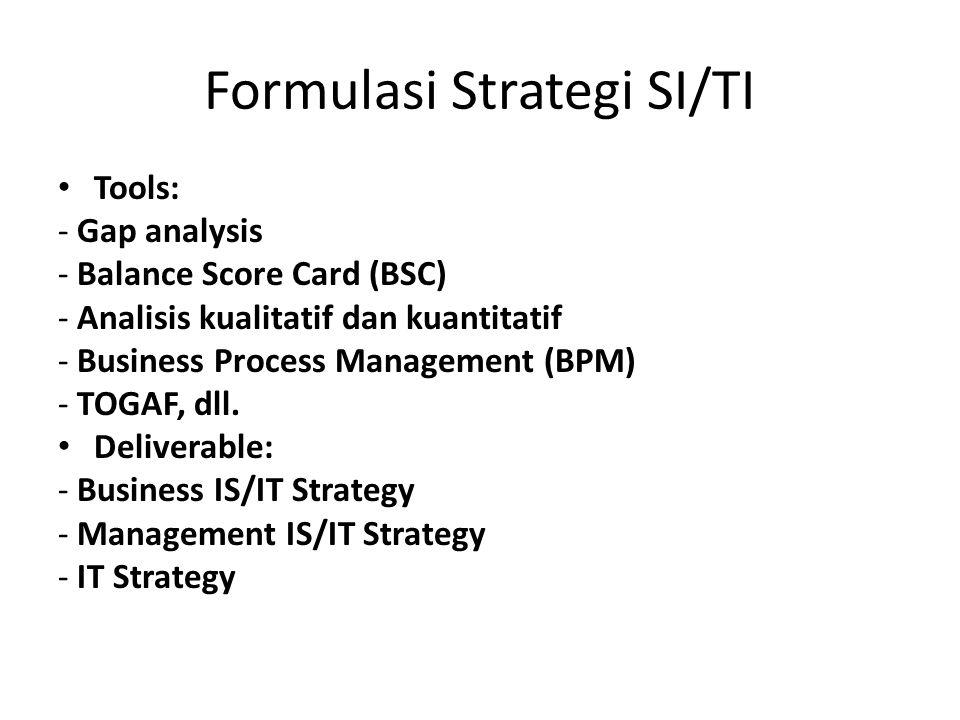 Formulasi Strategi SI/TI