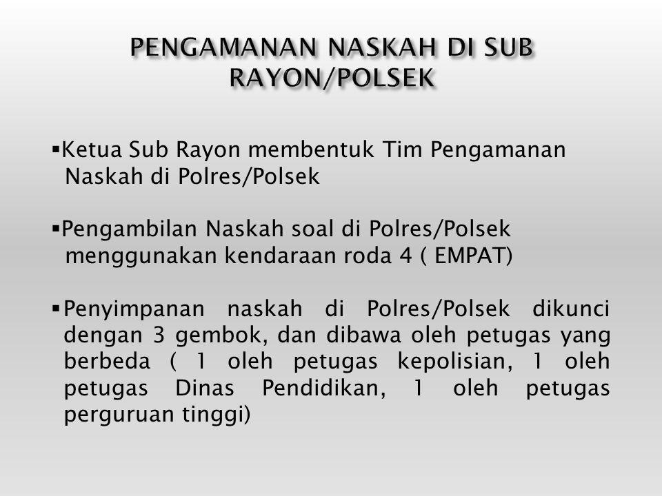 PENGAMANAN NASKAH DI SUB RAYON/POLSEK