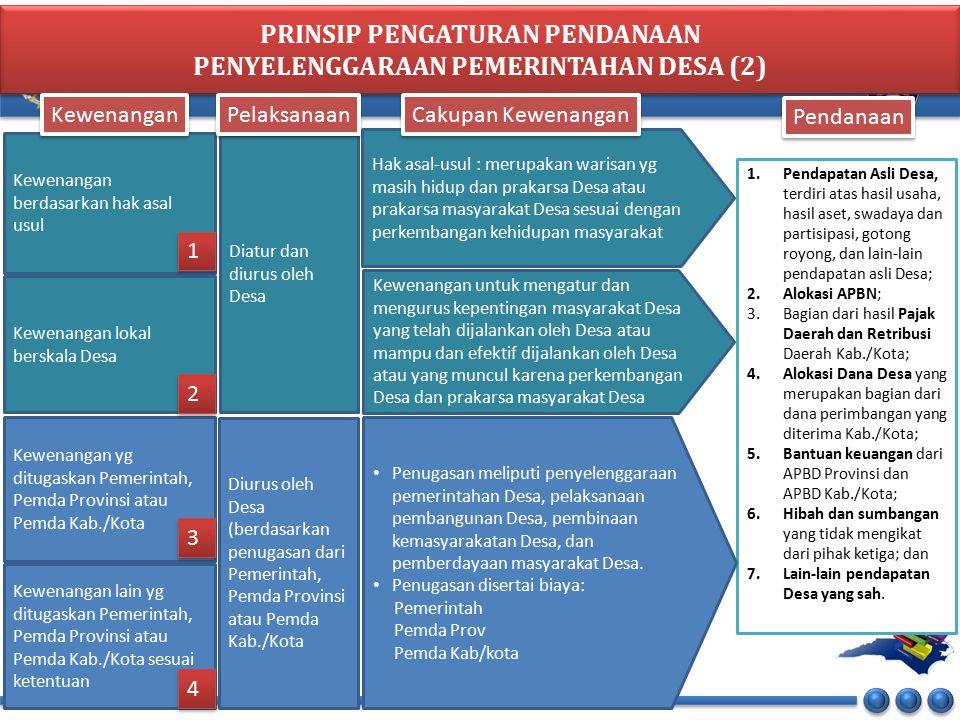 PRINSIP PENGATURAN PENDANAAN PENYELENGGARAAN PEMERINTAHAN DESA (2)
