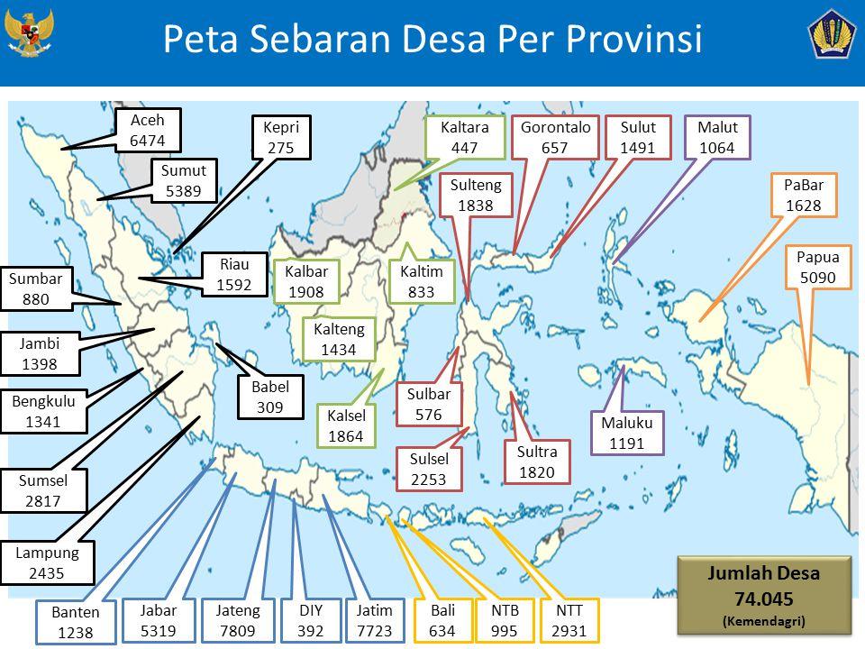 Peta Sebaran Desa Per Provinsi