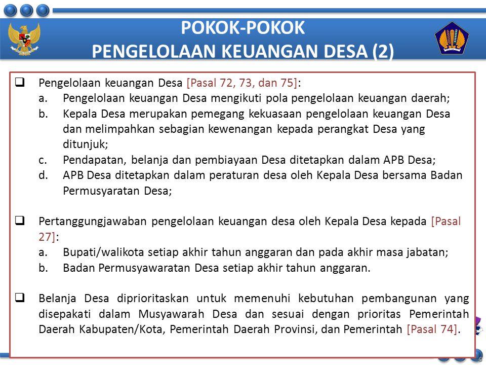 POKOK-POKOK PENGELOLAAN KEUANGAN DESA (2)
