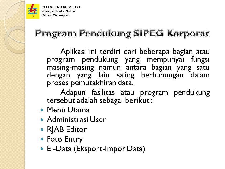 Program Pendukung SIPEG Korporat