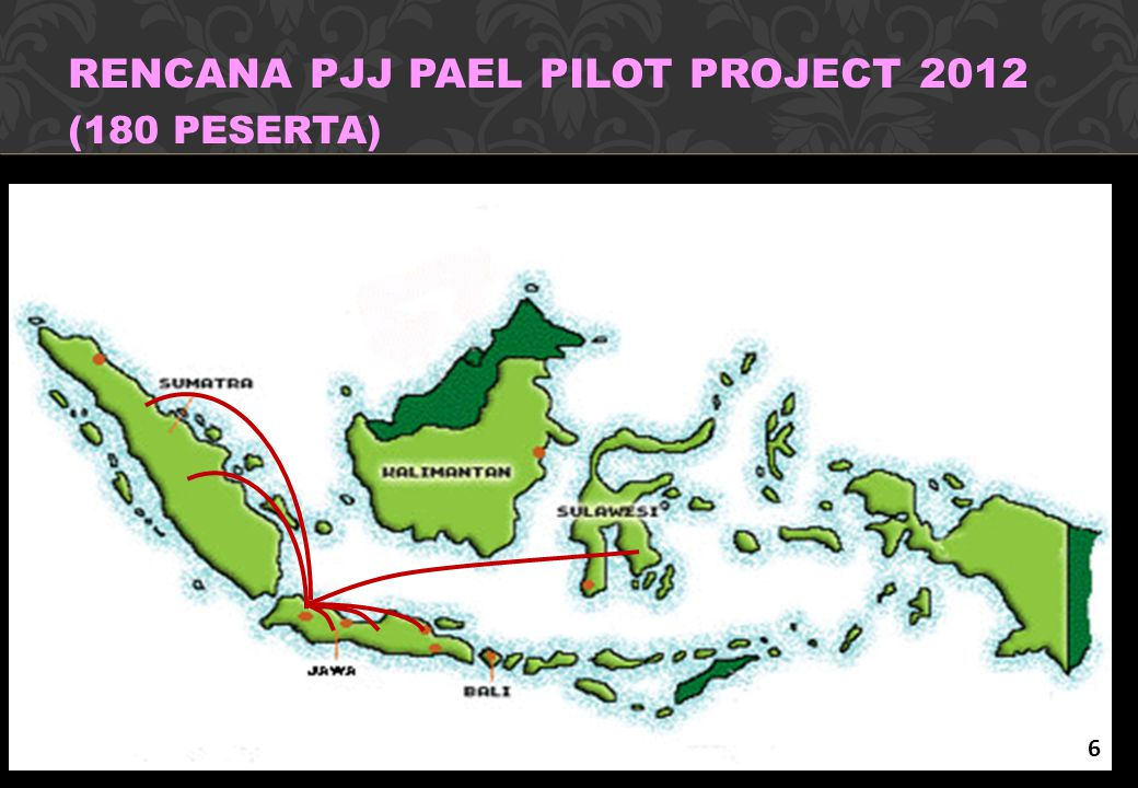 RENCANA PJJ PAEL PILOT PROJECT 2012