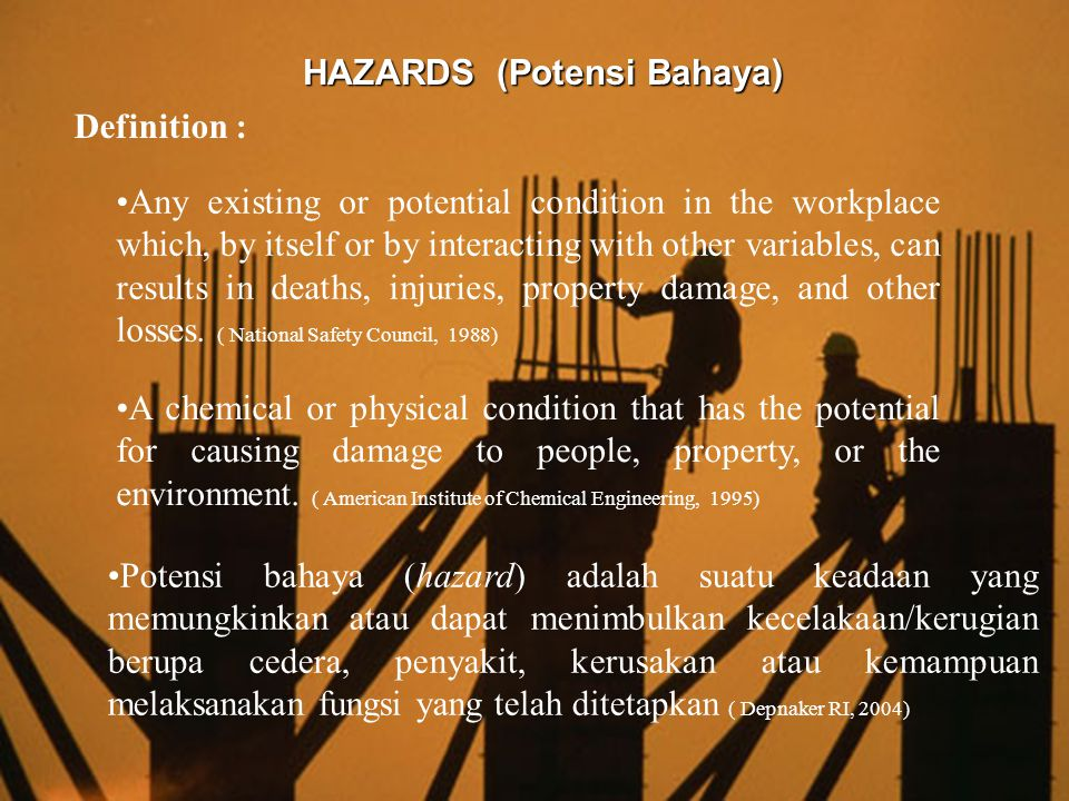 HAZARDS (Potensi Bahaya)