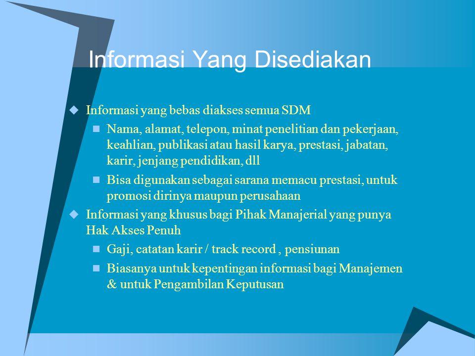 Informasi Yang Disediakan
