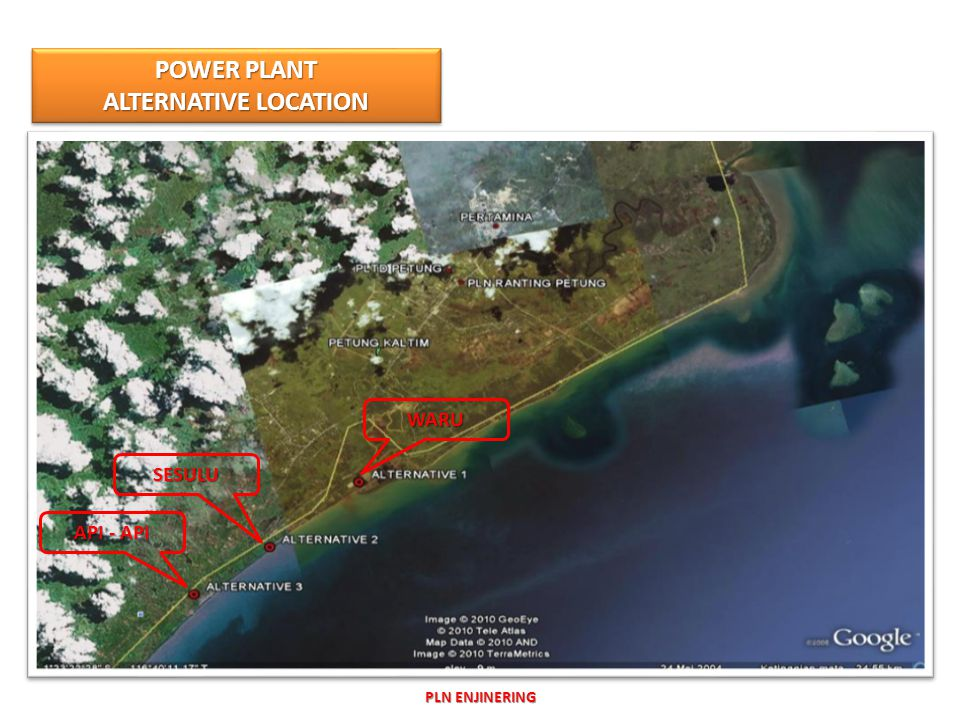 POWER PLANT ALTERNATIVE LOCATION