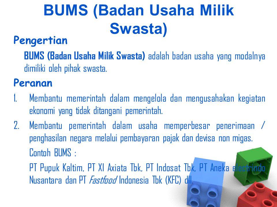 BUMS (Badan Usaha Milik Swasta)