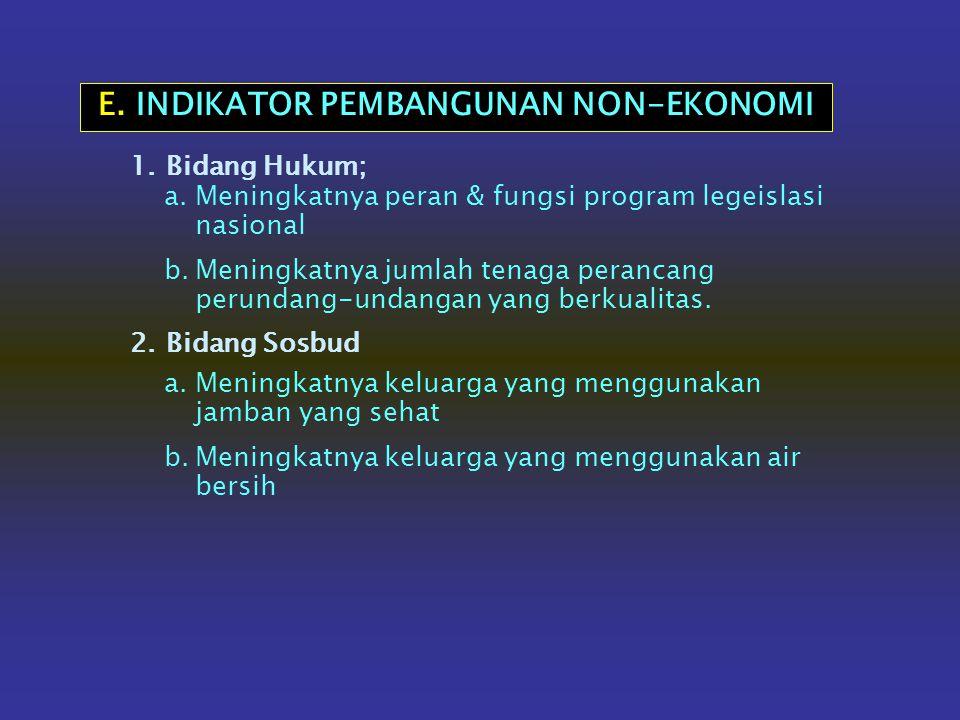 E. INDIKATOR PEMBANGUNAN NON-EKONOMI