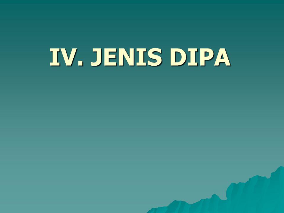 IV. JENIS DIPA