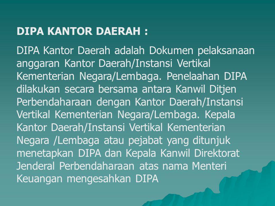 DIPA KANTOR DAERAH :