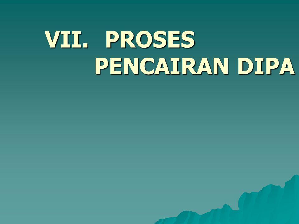 VII. PROSES PENCAIRAN DIPA
