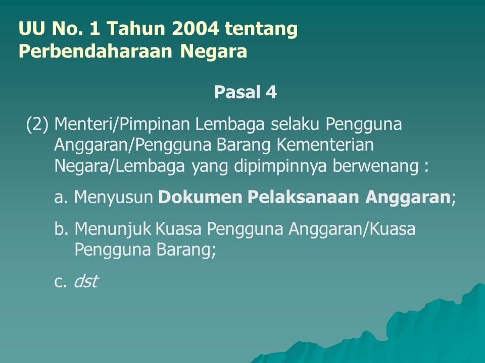 UU No. 1 Tahun 2004 tentang Perbendaharaan Negara