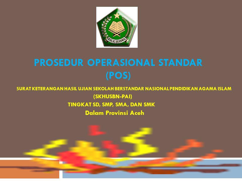 PROSEDUR OPERASIONAL STANDAR (POS)