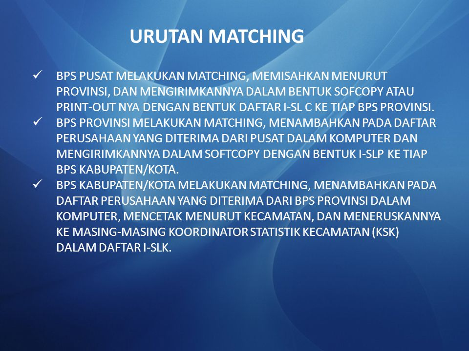 URUTAN MATCHING