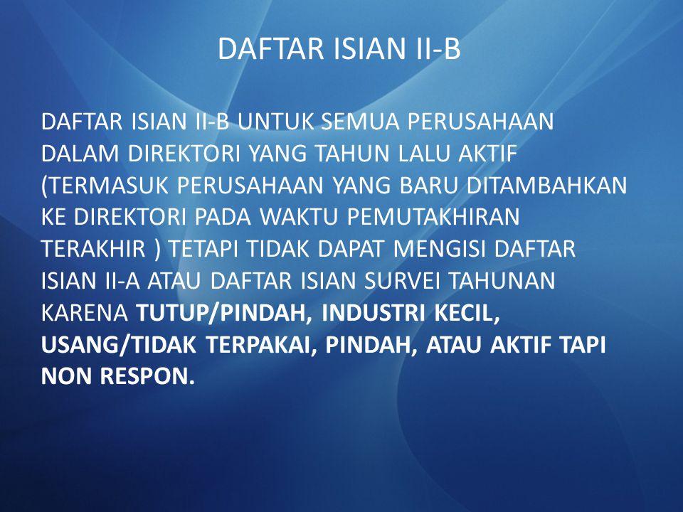 DAFTAR ISIAN II-B