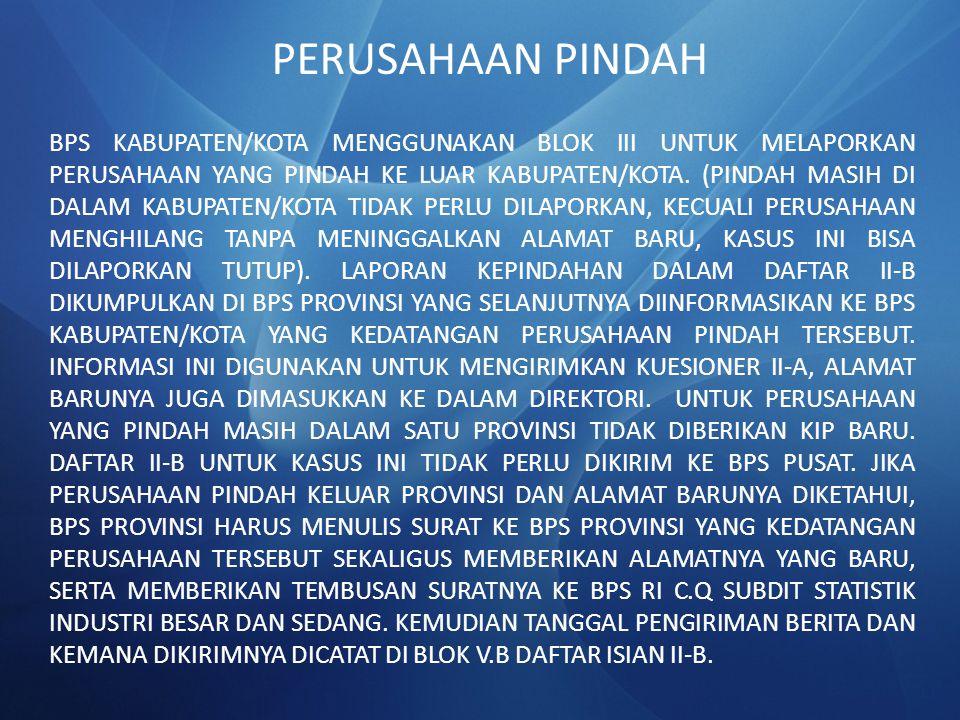 PERUSAHAAN PINDAH