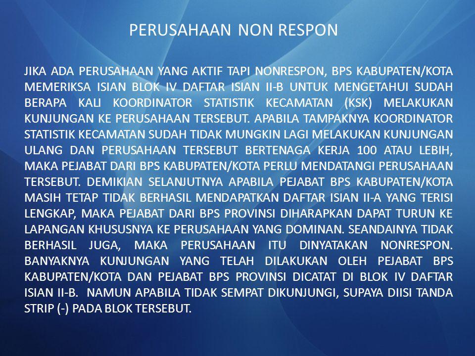 PERUSAHAAN NON RESPON