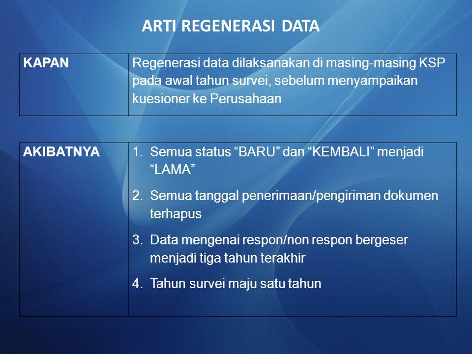 ARTI REGENERASI DATA KAPAN