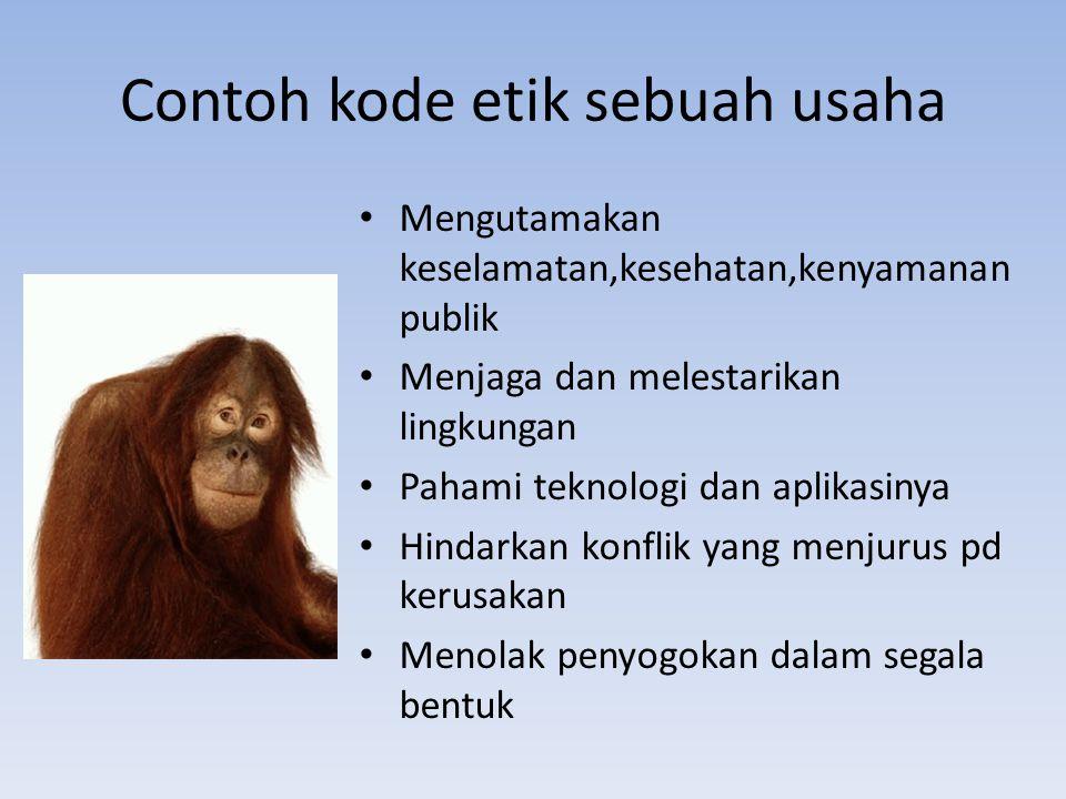Contoh kode etik sebuah usaha