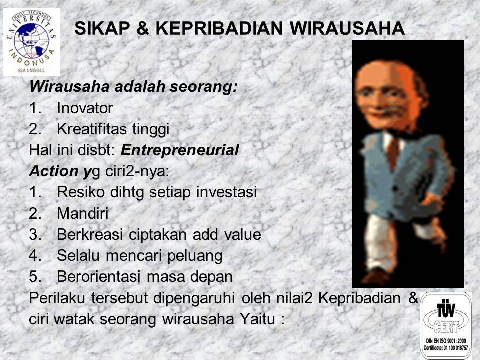 SIKAP & KEPRIBADIAN WIRAUSAHA