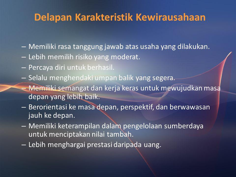 Delapan Karakteristik Kewirausahaan