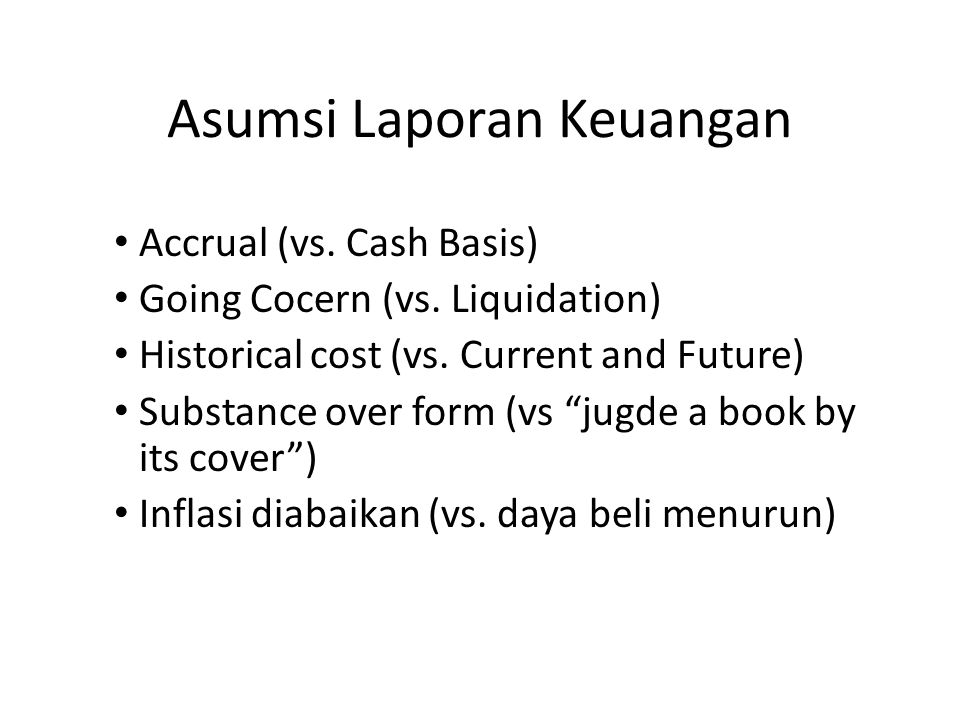 Asumsi Laporan Keuangan