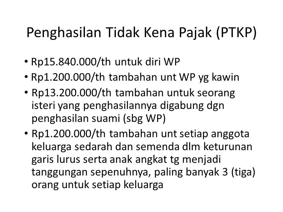 Penghasilan Tidak Kena Pajak (PTKP)