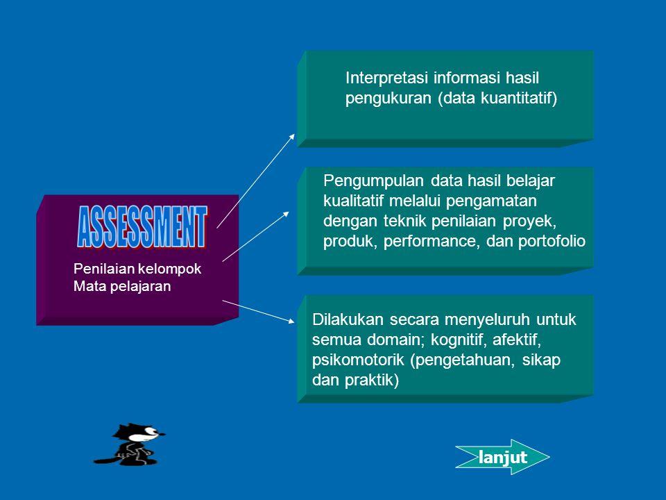 ASSESSMENT Interpretasi informasi hasil pengukuran (data kuantitatif)