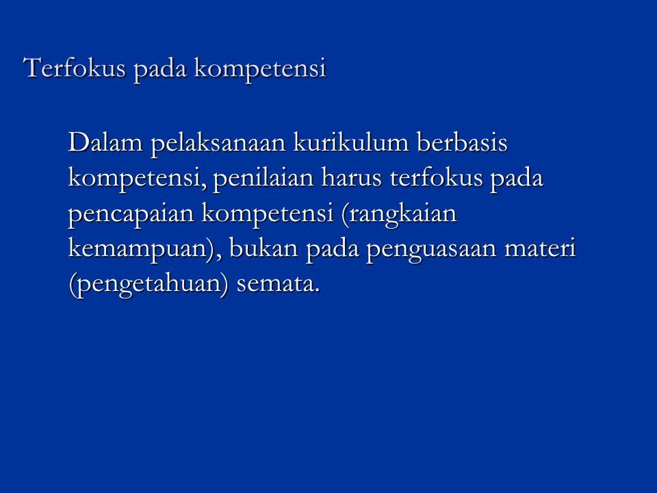 Terfokus pada kompetensi