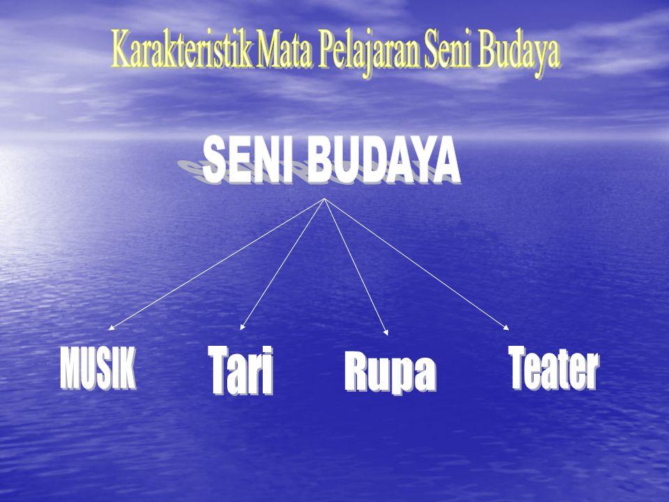 Karakteristik Mata Pelajaran Seni Budaya