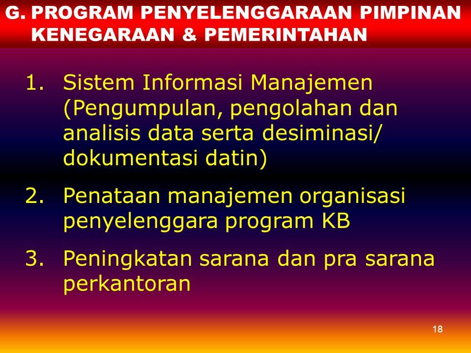 Penataan manajemen organisasi penyelenggara program KB