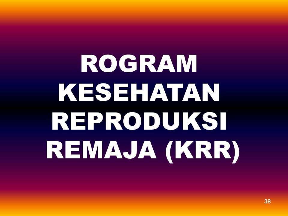 ROGRAM KESEHATAN REPRODUKSI REMAJA (KRR)