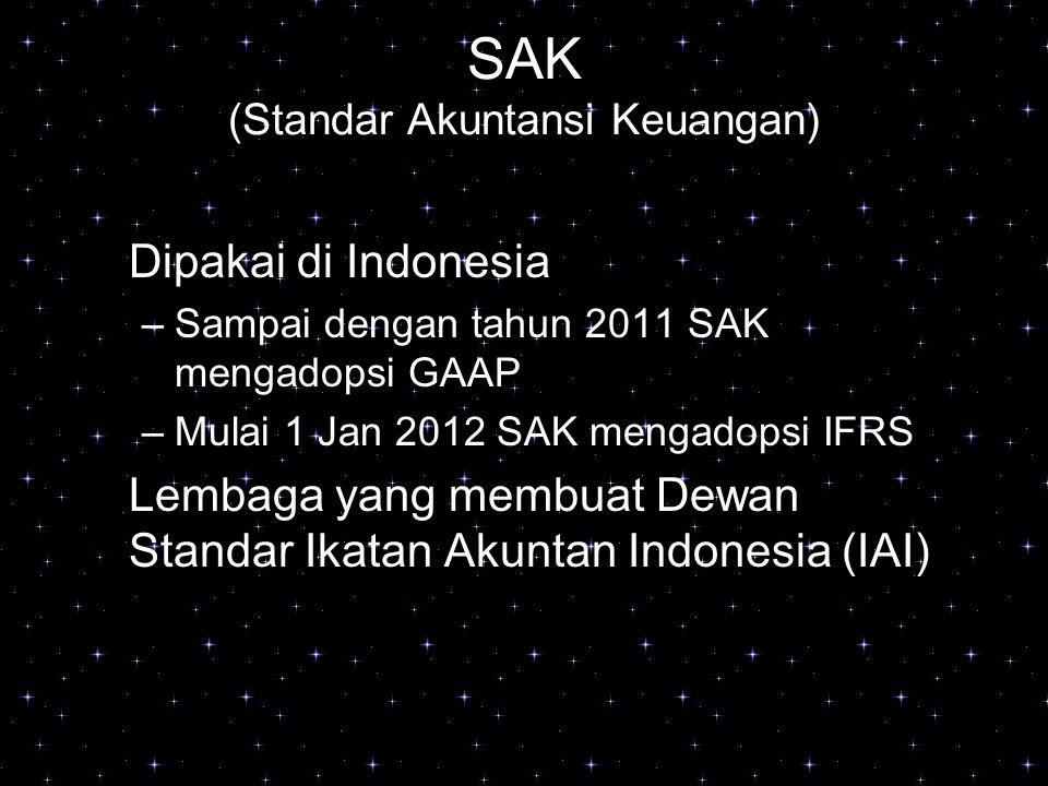 SAK (Standar Akuntansi Keuangan)