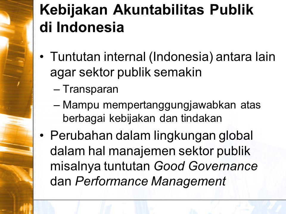 Kebijakan Akuntabilitas Publik di Indonesia