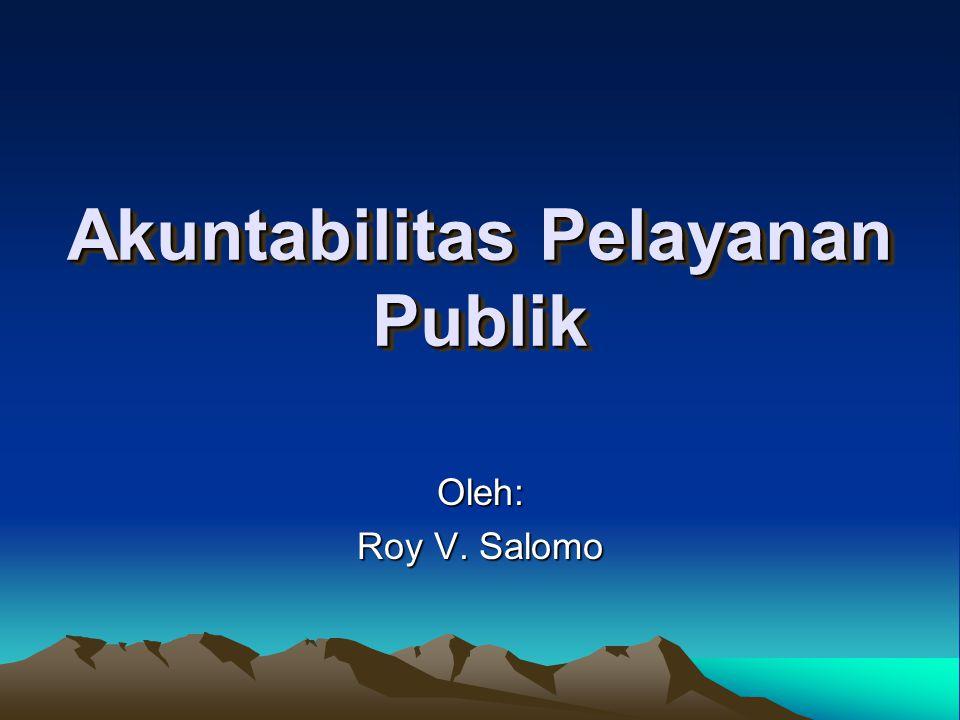 Akuntabilitas Pelayanan Publik