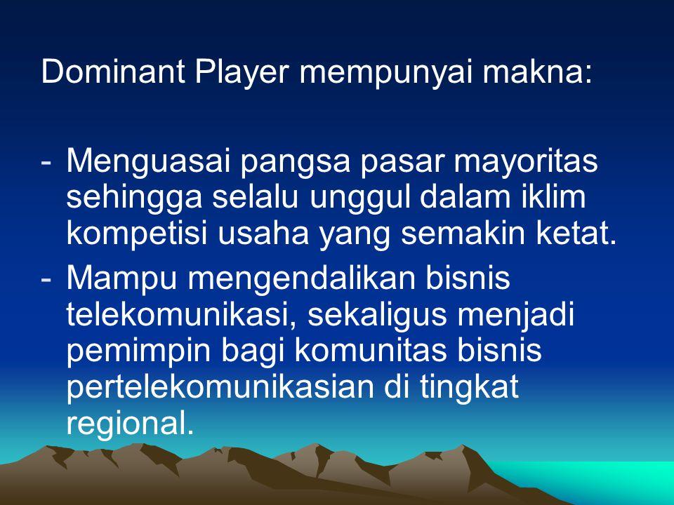 Dominant Player mempunyai makna: