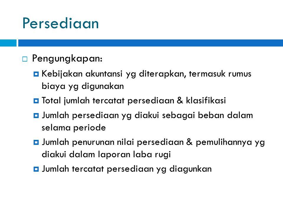 Persediaan Pengungkapan: