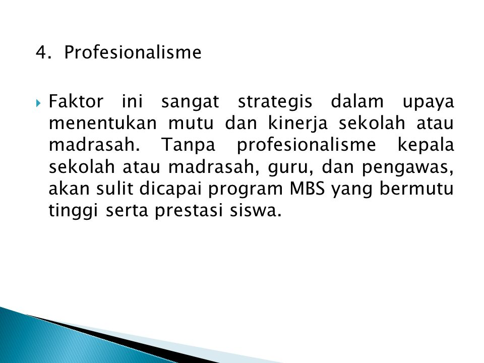 4. Profesionalisme