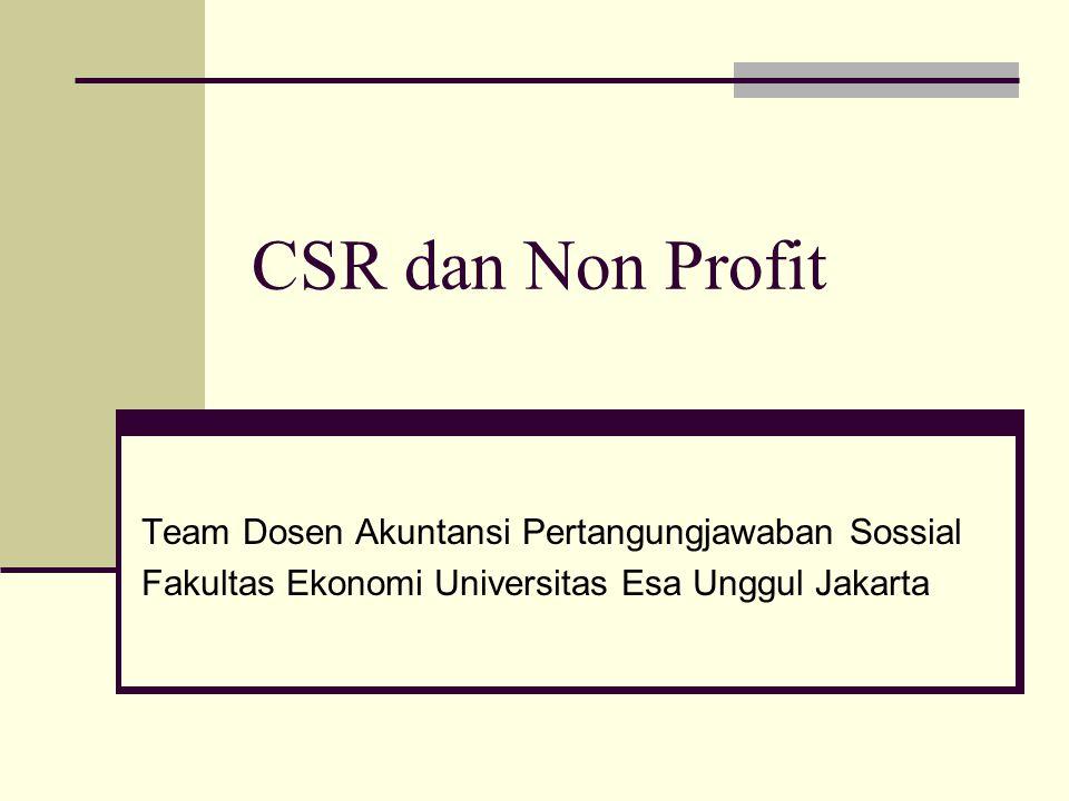 CSR dan Non Profit Team Dosen Akuntansi Pertangungjawaban Sossial