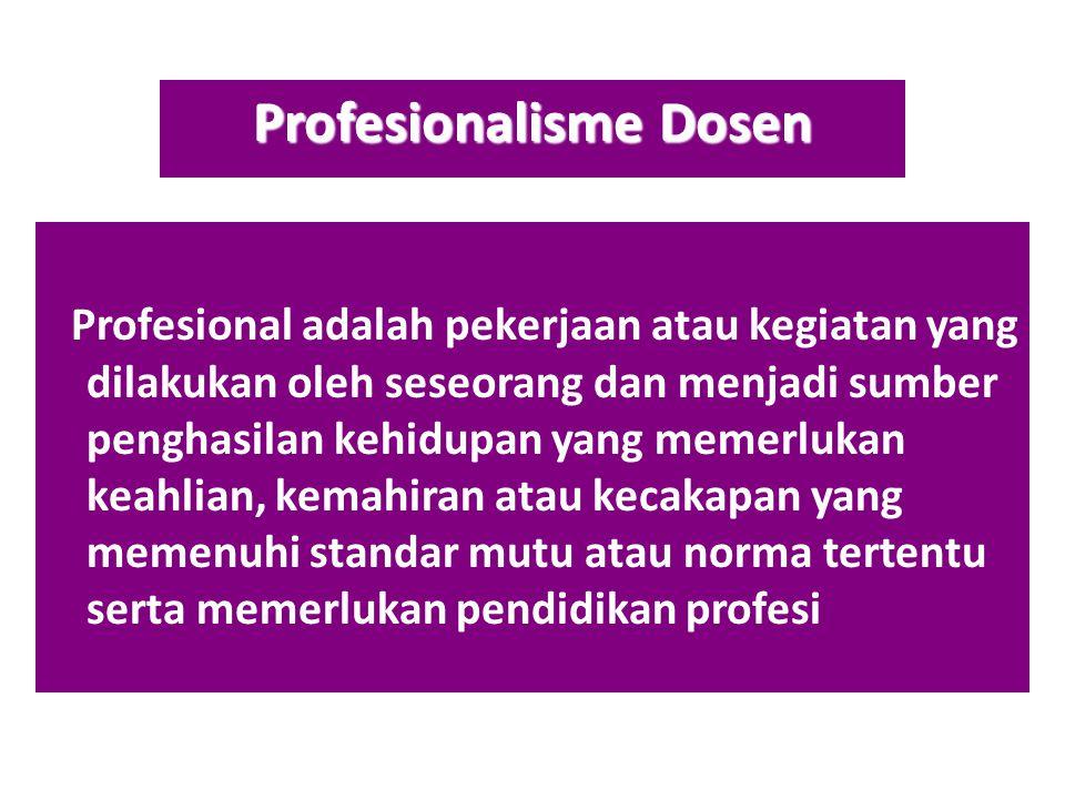 Profesionalisme Dosen