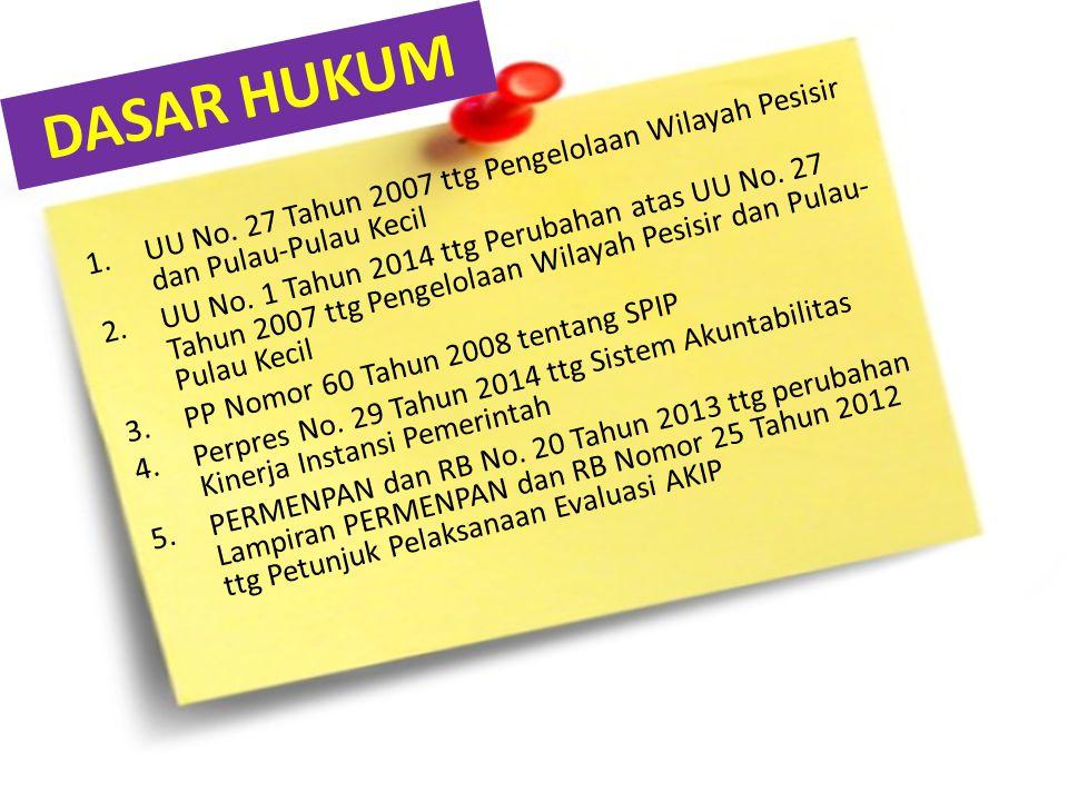 DASAR HUKUM UU No. 27 Tahun 2007 ttg Pengelolaan Wilayah Pesisir dan Pulau-Pulau Kecil.