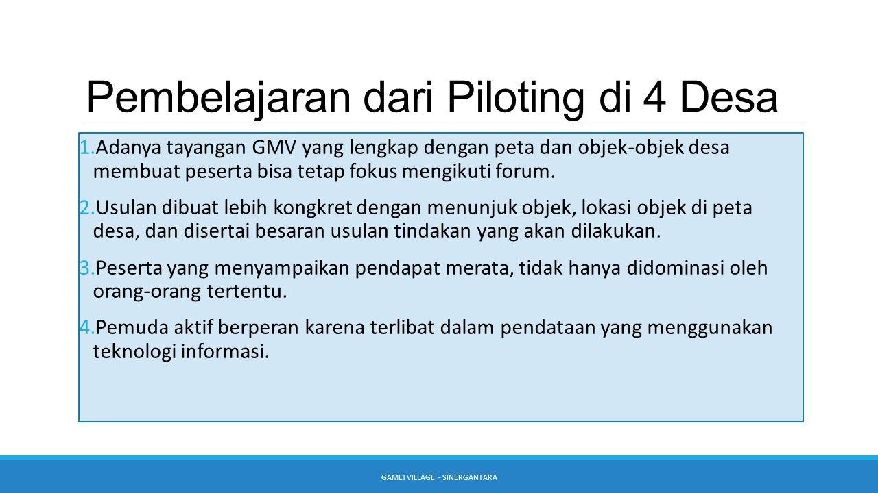 Pembelajaran dari Piloting di 4 Desa