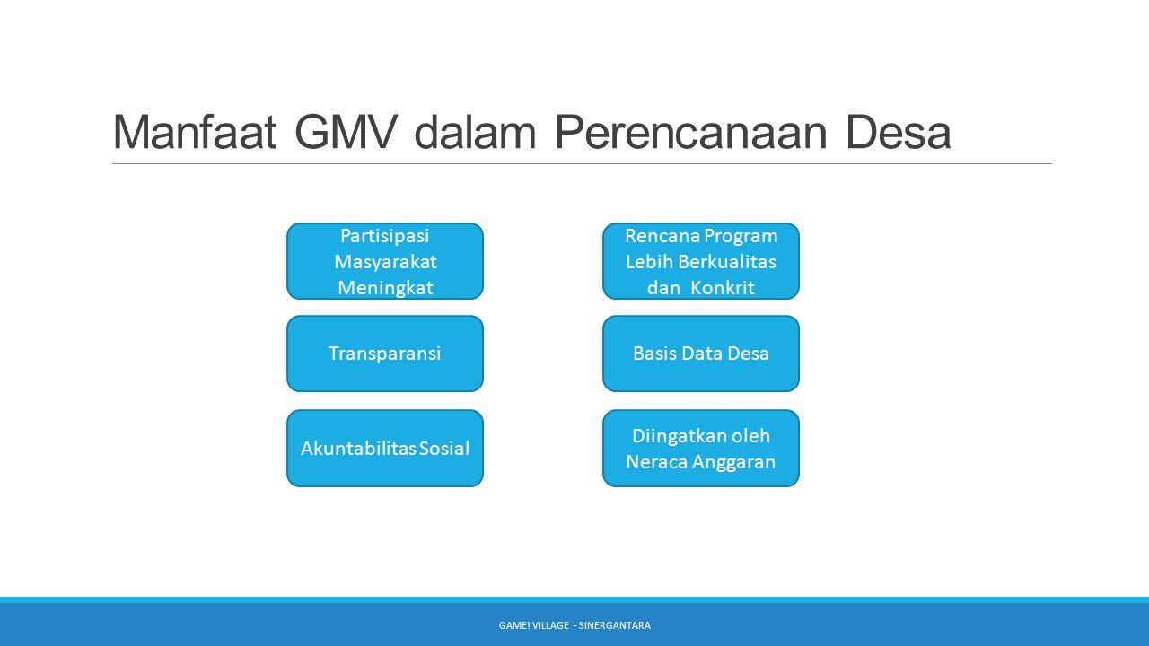 Manfaat GMV dalam Perencanaan Desa