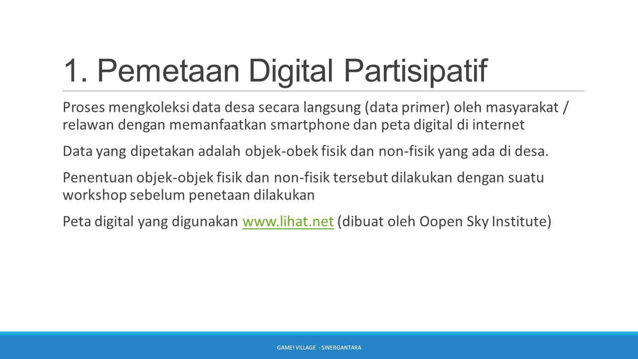 1. Pemetaan Digital Partisipatif